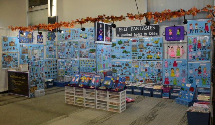 Felt Fantasies booth picture