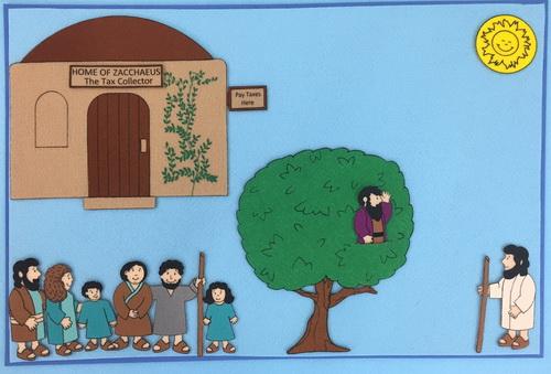 Zacchaeus - Fel... Zacchaeus Bible Story